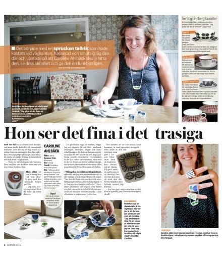Andra Augusti i tidningen Norrans helgbilaga.